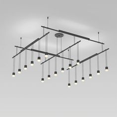 Suspenders Grid Pendant with Light Bars and Etched Diffusers | SONNEMAN - A Way of Light at Lightology