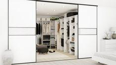 Hos Kitchn laver vi også walk in løsninger. Alle walk-in opstillinger er tilpasset det rum du ønsker at udnytte. Et Walk-in closet har rigtig mange fordele, og tit har man et værelse eller et pulterrum der står ubrugt hen. Du får det fulde overblik over din garderobe, og har nem adgang til alt dit tøj når der ikke er låger foran hvert enkelt skab. Et walk in closet behøver ikke være dyrt. Der er som udgangspunkt kun brug for nogle tværgavle som kan adskilles af hylder og bøjlestænger, og så…