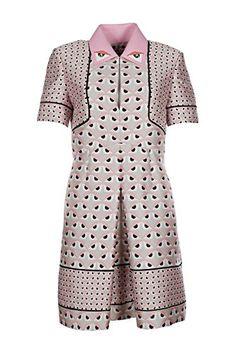 Fendi women's short mini dress short sleeve original pink #Fendi #Fashion #WomensFashion #LadiesFashion #HauteCouture #Style #DesignerDresses #FashionWear #Silk #Lace https://www.amazon.com/dp/B01FSX3Y74/ref=cm_sw_r_pi_dp_vBOxxbD2RQND6