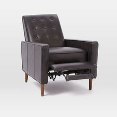 Rhys Mid-Century Leather Recliner