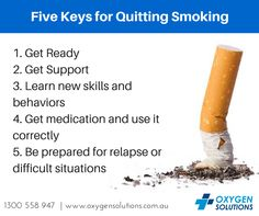 Smoking cessation is one of the first items on the list for COPD patients. Here are Five keys for Quitting Smoking courtesy of the Center of Disease Control and Prevention!