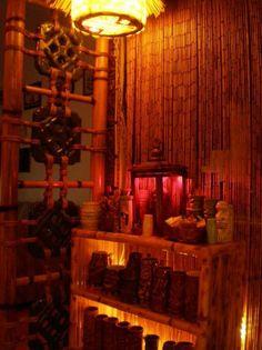 Apartment Bar...New shell lamp -- Tiki Central