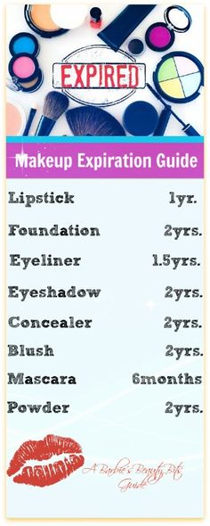 When does makeup expire?  Here is a makeup guideline from Barbie's Beauty Bits.  It's a must pin and read! #makeuptips, #bbloggers