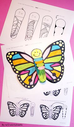 Butterfly Life Cycle Activities include a cute butterfly craft that is easy to cut.