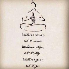 Wise words regarding the practice of meditation