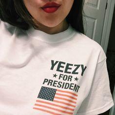 Yeezy For President T-Shirt. @begaj should I??