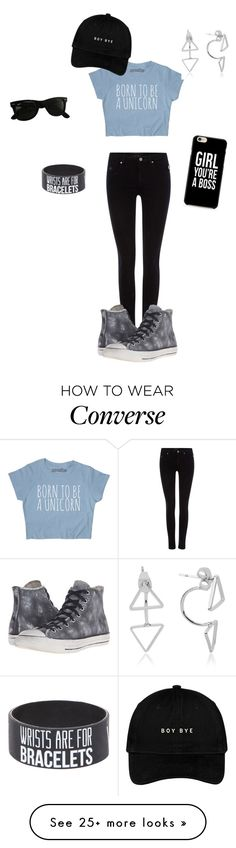 """""""Born to be a Unicorn"""" by vidiarocks on Polyvore featuring Maison Scotch, Converse and Ray-Ban"""