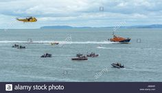 Download this stock image: Scenes from Moelfre Lifeboat day on Anglesey, taken on the 16th August 2014. - JB683R from Alamy's library of millions of high resolution stock photos, illustrations and vectors.