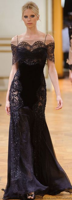 Not a big fan of lace but this is beautiful . Zuhair Murad Haute Couture | F/W 2013