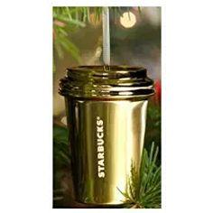 Starbucks 2014 Silver Paper Coffee Cup Ceramic Christmas Ornament 011042114