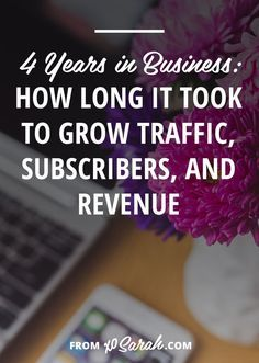 Because it often looks like people are popping up out of no where with 6-figure businesses today I thought I'd give you the year by year breakdown of my business and share how I've grown my traffic subscribers and income over the past four years.