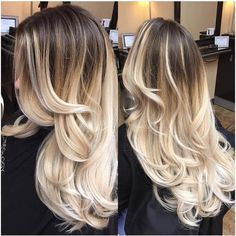126 brilliant balayage hair color highlight for 2019 page 30 Brunette Hair Cuts, Blonde Hair Looks, Honey Blonde Hair, Blonde Brunette, Grey Balayage, Balayage Hair Blonde, Brown Ombre Hair, Ombre Hair Color, Hair Colors