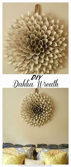 This DIY Dahlia Wreath was so much fun to make!: