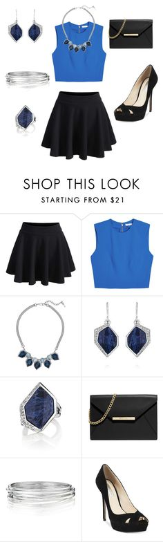 """""""Black & Blues"""" by eryn-shimizu on Polyvore featuring Alice + Olivia, Chloe + Isabel, MICHAEL Michael Kors, INC International Concepts and chloeandisabel"""