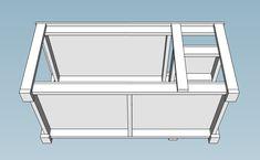 Mobile Workbench with Table Saw Garage Workbench Plans, Table Saw Workbench, Workbench Plans Diy, Portable Workbench, Workbench Designs, Mobile Workbench, Woodworking Bench Plans, Woodworking Projects Diy, Diy Garage Storage