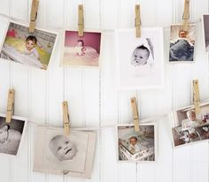 Baby shower game- have everyone bring a baby pic of themselves. Put them up like the photo shows but number them so you can give each guest a list of names of everyone attending with a baby photo up, and whoever can match the most baby photo numbers next to the correct name of who's baby photo it is, wins!