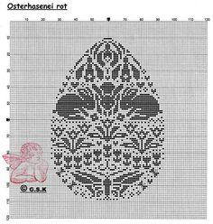 Uovo di pasqua punto croce
