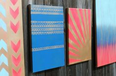 Home is Where the Art Is: 4 Simple Ways to Make Spray Paint Wall Art via Brit + Co