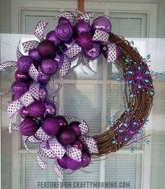 DIY Purple Winter Wreath