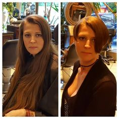 Short Hair Cuts, Short Hair Styles, Forced Haircut, Before And After Haircut, Rapunzel Hair, Very Long Hair, Cute Little Girls, Gorgeous Women, Curly