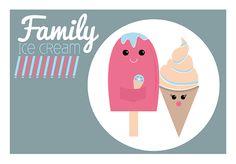 Family ice-cream ilustración #GraphicDesign #DiseñoGrafico #illustration
