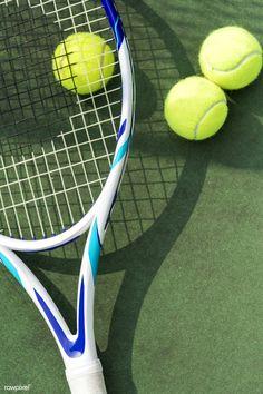 Tennis balls on a tennis court by rawpixel on Mode Tennis, Tennis Shop, Tennis Rules, Pro Tennis, Lawn Tennis, Tennis Tips, Tennis Wear, Tennis Wallpaper, Australian Open Tennis