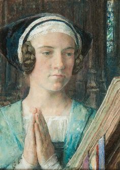 Portrait of a Woman Praying - Edgar Maxence