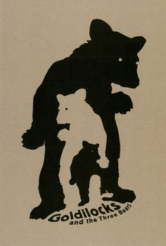 Cala II, Ronald J.. Goldilocks and the Three Bears. Uses negative space to add content