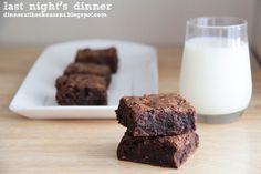 toffee chocolate chip brownies // last night's dinner