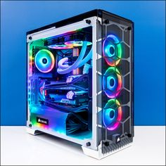 The PCCG Mammoth is back with an RGB Vengeance! Custom Gaming Computer, Gaming Computer Setup, Gaming Pc Build, Computer Build, Gaming Pcs, Gaming Room Setup, Pc Setup, Custom Computers, Gaming Desktop