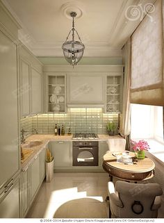 Зеленая кухня прованс http://www.ok-interiordesign.ru/ph17_kitchen_interior_design.php