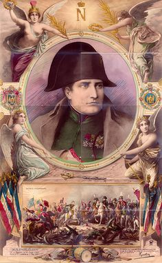 "Collected a series of postcards, puzzles, ""Portrait of Napoleon Bonaparte"""
