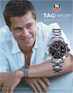 The ultimate reference in luxury chronograph watches, TAG Heuer's high-precision timing innovations have kept pace with the evolution of sports since Aston Martin, Tag Heuer Glasses, Brad Pitt Haircut, Carrera, Rolex, Best Perfume For Men, Brand Archetypes, Best Ads, Online Watch Store