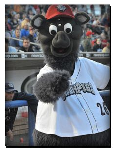FeRROUS the Ironpig, Lehigh Valley IronPigs mascot; AAA International League. He was named in 2007. The IronPigs name is a reference to pig iron, used in the manufacturing of steel, for which the Lehigh Valley region of Pennsylvania is world-renowned.