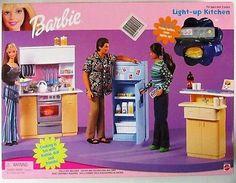 Barbie Light-Up Kitchen Playset (NEW)