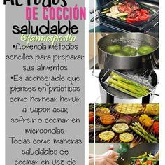 Métodos de cocción saludables a la hora de cocinar.  #saludableenlacocina #desayunosaludable #almuerzosaludable #cenasaludable #tips #tipssaludable #tipsdecocina #metodosdecoccion  #comesaludable #cocinasaludable  #cocinasana #nutricion #comidasaludable #saludable #desayuno #cuidaloquecomes #cuidatusalud #dieta #dietasaludable #ricoysaludable #vidasana  #eatclean#eattime#healthylife #food #instafood