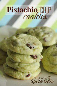 Spice Gals: Pistachio Chip Cookies