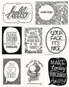 POSTICK - Adhesive labels that convert things into postcards 8 Kickstarter limited edition hand-illustrated quote cards printed on beautiful off-white paper.