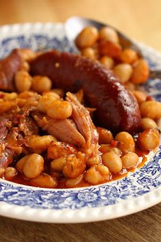 cassoulet and here's the recipe http://www.my-french-house.com/recipes/cassoulet-french-white-bean-soup/