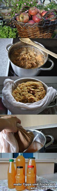 Geht auch ohne Entsafter: Äpfel zu leckerem Saft einkochen  #smarticular