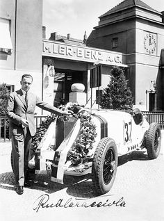 "dbslrt: "" Rudolf Caracciola victorious at the 1931 Avus race (SSKL "" Le Mans, Vintage Racing, Vintage Cars, Antique Cars, Vintage Photos, Mercedes Benz, Grand Prix, Benz Smart, Racing Events"