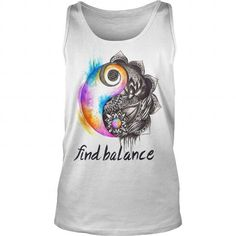 Awesome Tee FIND BALANCE UNISEX TANK TOP T shirts