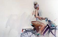 Eudes Correia: 2 тыс изображений найдено в Яндекс.Картинках Watercolor Landscape, Watercolor Art, Portrait Sketches, Bicycle Art, Watercolor Portraits, Figure Painting, Watercolor Illustration, Fine Art, Artist