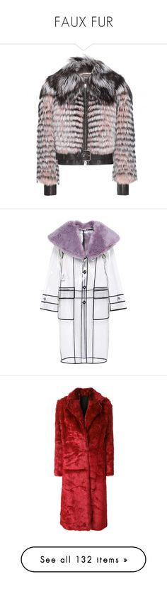 """""""FAUX FUR"""" by mia-christine ❤ liked on Polyvore featuring outerwear, jackets, coats & jackets, pink, fox fur jacket, alexander mcqueen jacket, alexander mcqueen, pink jacket, coats and miu miu"""