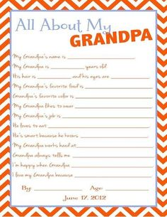 @Sara Frawley , @Krystal A. Basey , @Nicole Yates , @Keri Yates Shinault , @Ashley Yates ,  do you think we can do this for Dad for Father;'s Day - email to me and I will print and make a book - need by Thursday....All about My Papa, printable (father's day)...can't bring up blot, but good idea to make my own.
