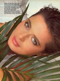 US Vogue February 1982 Beauty U.S.A.: How To Face the Elements Photo Bill King  Model Isabella Rossellini