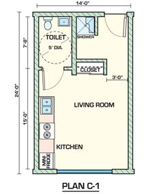 New York Alcove Studio apartment - apartment layout (NY-14372 ...