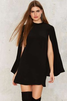 All Over It Cape Dress