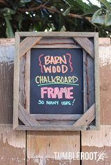 Rustic 8x10 handmade barbed wire barnwood chalkboard frame - perfect for shopping lists, weddings, to-do lists, message boards and more!