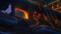 Meg de la película Hercules creada como una sirena